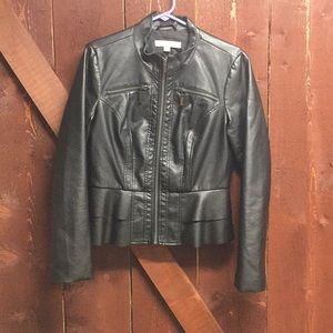 New York and Company faux leather jacket